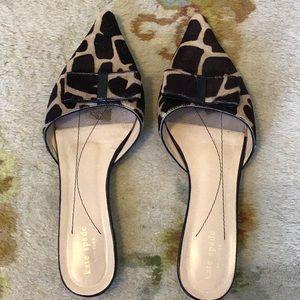 Kate Spade calf hair giraffe mules- fits 8.5-9